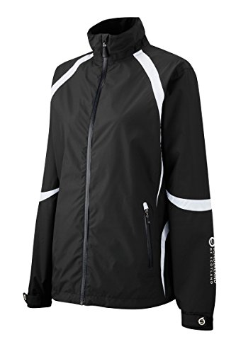 Sunderland Ladies LDSDOLJKT Dolphin Waterproof Golf Jacket - Black/White - M