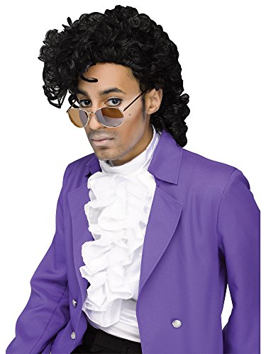 Fun World Men's Purple Pain Wig, Black, Standard]()