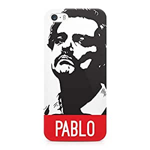 Loud Universe Narcos Case Pablo Printed Edges Wrap Around iPhone 5s Case - White