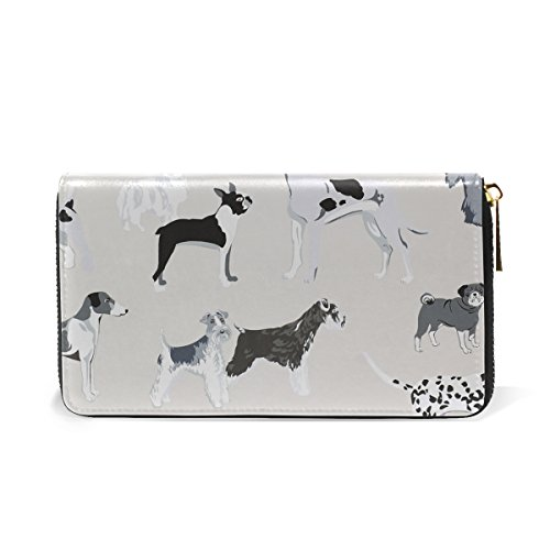 Dog Handbags TIZORAX Around Puppy Clutch Purses And Womens Organizer Wallet Zip Zxq5x0SU