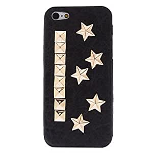 3D Golden Five-pointed Stars Style Rivet PC Hard Case with Interior Matte for iPhone 5