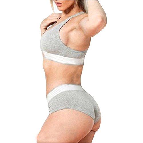 MIOIM Underwear Set Women Sexy Gathered Shockproof Sports Two Piece Lingerie Bra Bikinis Sets