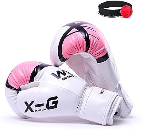 DJLHNREXCHI Kick Boxing Gloves for Men Women PU Karate Muay Thai Guantes De Boxeo Free Fight MMA Sanda Training Adults Kids Equipment Gold,4 OZ
