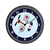 CafePress - Airplane Aviator 10-inch Black Frame Wall Clock - Unique Decorative 10'' Wall Clock