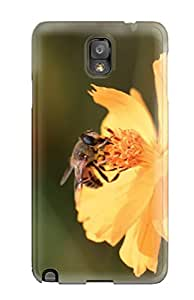 LLYH Scratch-free Phone Case For Galaxy Note 3- Retail Packaging - Abelha Flor