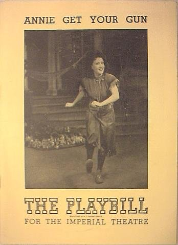 Annie Get Your Gun: The Playbill for the Imperial Theatre