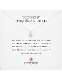Dogeared Reminders Accomplish Magnificent Things Starburst Charm Necklace