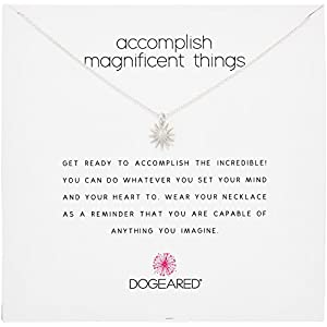 "Dogeared ""Reminders"" Accomplish Magnificent Things Starburst Charm Necklace"