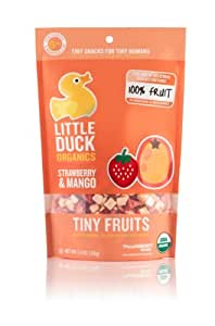 Little Duck Organics Tiny Fruit, Strawberry & Mango, 1-Ounce Pouches (Pack of 12)