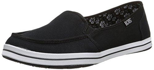 Bobs de Skechers Las Mujeres Gafas de moda sandalias planas zapatillas Negro