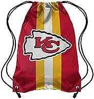 Forever Collectibles NFL Kansas City Chiefs Team Stripe Drawstring Backpack BagTeam Stripe Drawstring Backpack