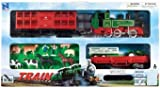 WowToyz Deluxe Steam Train w/Livestock cars and vehicles