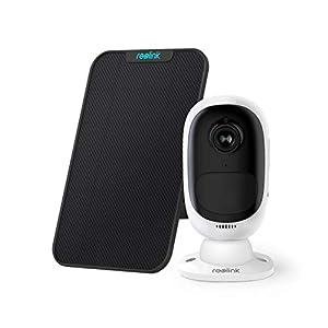Reolink Argus 2 avec Panneau Solaire HD 1080P WiFi Caméra Surveillance sur Batterie Rechargeable Caméra Solaire Caméra…