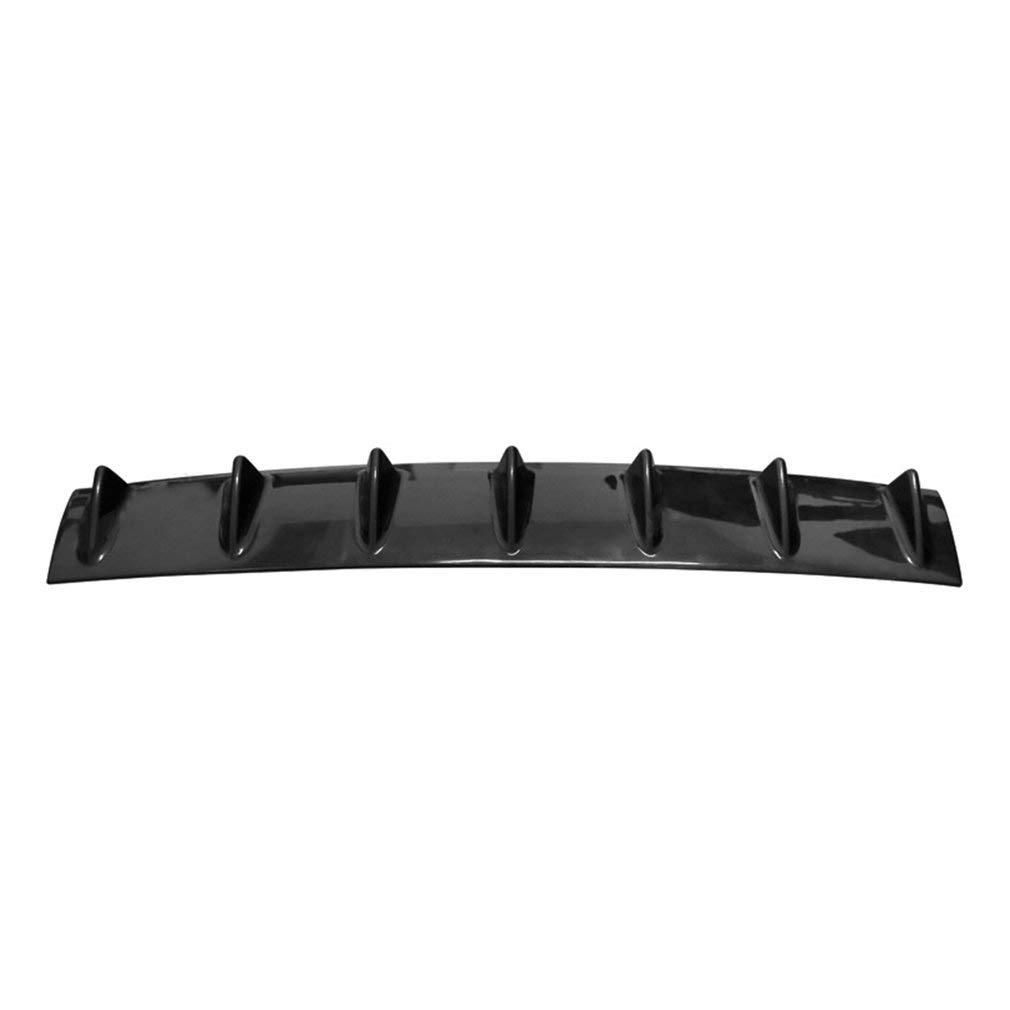 Binghotfire Paraurti Posteriore Universale per Auto Diffusore a Labbro 7 Paraurti ABS ABS Spoiler Car-Styling Nero