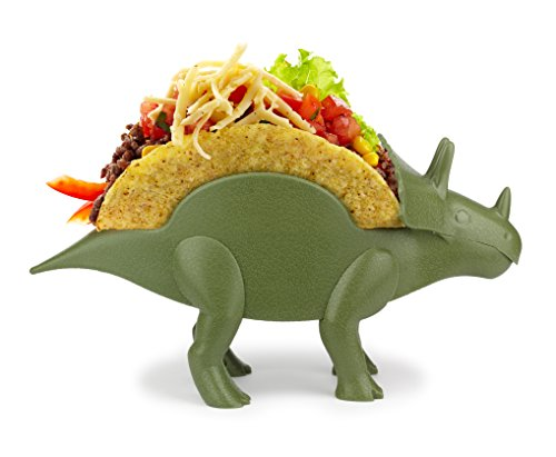 KidsFunwares TriceraTACO Taco Holder - The Ultimate Prehistoric Taco Stand for Jurassic Taco Tuesdays and Dinosaur Parties - Holds 2 Tacos - The Perfect Gift for Kids and Kidults that Love Dinosaurs (Dinosaur Party Food)