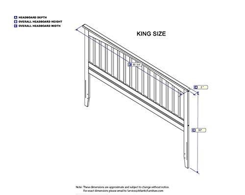 Bedroom Atlantic Furniture Mission Headboard, King, Espresso farmhouse headboards
