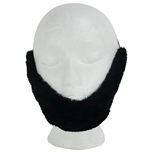 AMSOV,INV Fake Black Facial Hair Farmer Lincoln Beard Adult Halloween Costume Theatre Prop -