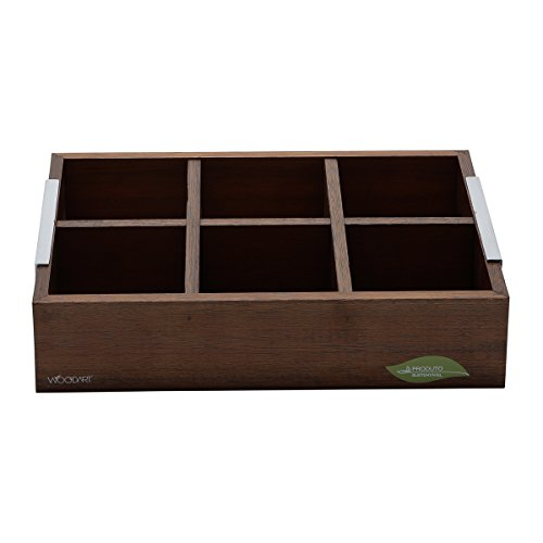 Caixa de Para Chá com 6 Divisórias Naturals Rojemac Madeira