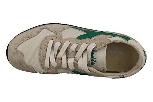 DIADORA PATRIMONIO hombre bajas zapatillas de deporte TRIDENTE NY S.W 201.157083 01 C6155 BIANCO-VERDE