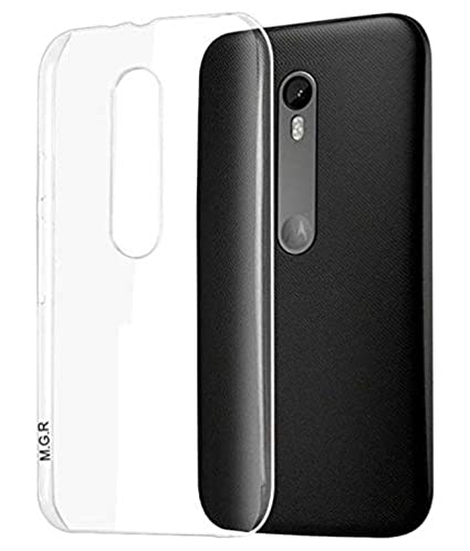 reputable site f8a90 3b1ac MGRJ Transparent Back Case Cover for Moto G3 (3rd Gen) / Moto G Turbo