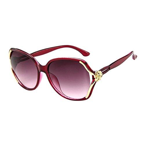 Fashion Occhiali Rosa Retro sole Big Outdoor Frame Protection Colors 7 Adeshop Uv Red Visualizza da Chic Casual Unisex Top Vintage fqWEA