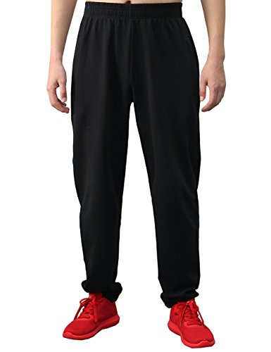 BONWAY Men's Sweatpants Active Pants Athletic Cotton Sport Pants with Pockets Heavy Weight Fit