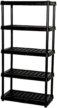 Amazon Com Blue Hawk 72 In H X 36 In W X 18 In D 5 Tier Plastic Freestanding Shelving Unit Kitchen Dining