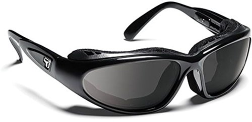 (7eye Men's Cape Nxt Resin Sunglasses,Glossy Black Frame/Re-ACT NXT Gray Lens,one size)