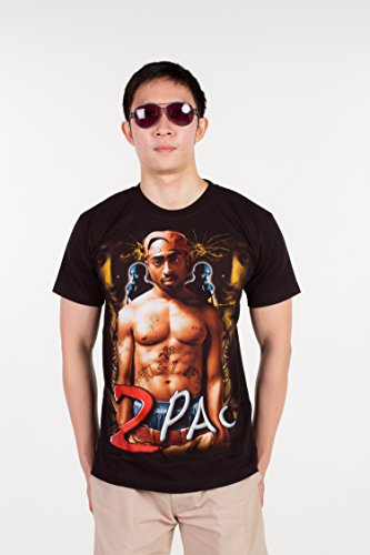 Tupac Halloween Costumes (2 Pac Tupac (All Eyez On Me ) 1268 Size XL Extra Large New! T-shirt)