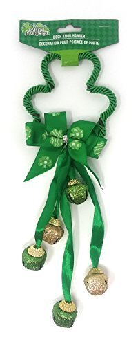 Green Shamrock Clover Decorative Door Knob Hanger With -