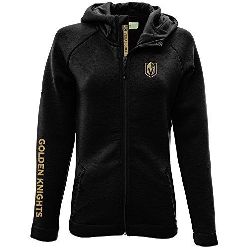 NHL Vegas Golden Knights Adult Women Motion Insignia Bold Full Zip Hooded Jacket, X-Large, Black