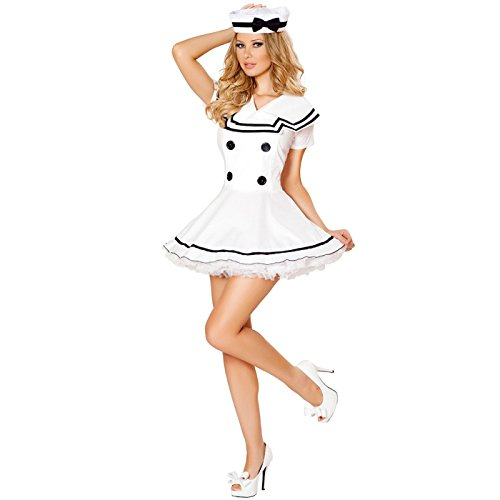 Last Minute Costumes At Home (HDE Women's Sailor Halloween Costume Adult Sized All Aboard Nautical Outfit)