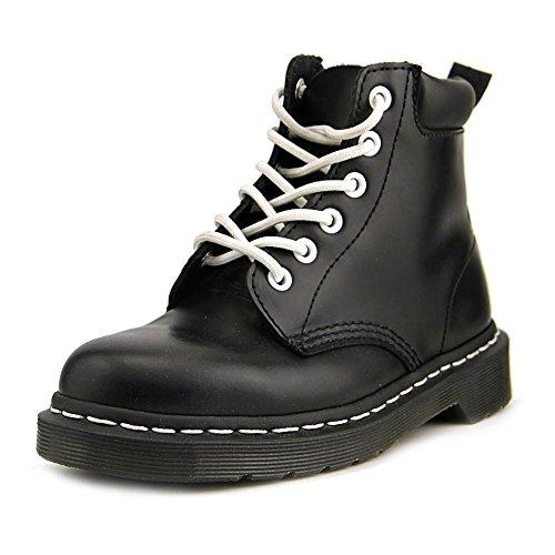 Dr. Martens Men's 939 6-Eye Padded Collar Boot Black Smooth 4 UK