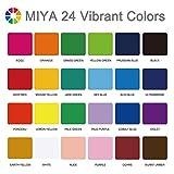 MIYA Gouache Paint Set, 24 Colors x 30ml Unique