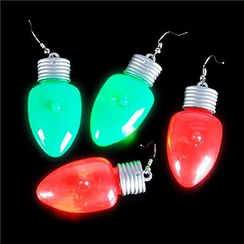 Flashing Holiday Bulb Earrings