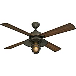 "Westinghouse 7204300 Great Falls One-Light 52"" ABS Resin Four-Blade Indoor/Outdoor Ceiling Fan, Oil Rubbed Bronze"