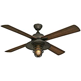 Westinghouse Lighting 7204300 Indoor/Outdoor Ceiling Fan, 52″, Oil Rubbed Bronze Finish