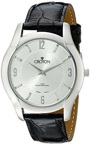 (CROTON Men's CN307501BSSL Heritage Analog Display Japanese Quartz Black Watch)