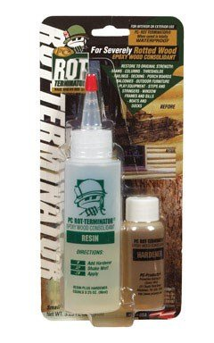 PC Products PC-Rot Terminator Epoxy Wood Hardener, Two-Part 3.25oz in Two Bottles, Amber 350614