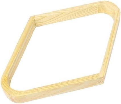CHRISTY HARRELL Juego de 4 estantes de Billar de Madera con Forma de triángulo, con Forma de Diamante, para balones de Billar: Amazon.es: Deportes y aire libre