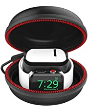 CFX Compatible Apple Watch Stand, Compatible Airpods Case Charging Station (2 in 1) EVA Protective Travel Case Compatible Apple Watch Charger 38mm 42mm Series 4/3/2/1 Accessories