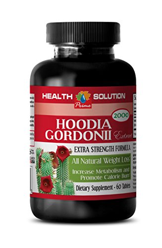 Hoodia Organic - HOODIA GORDONII EXTRACT 2000 - All Natural Weight Loss Supplement 1 Bottle 60 Tablets (Hoodia Green Tea Patch)