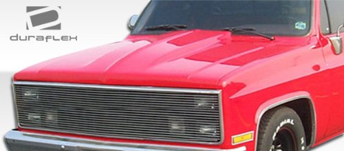 Cowl Hood - 1 Piece Body Kit - Compatible For Chevrolet C/K Series Pickup 1981-1986 ()