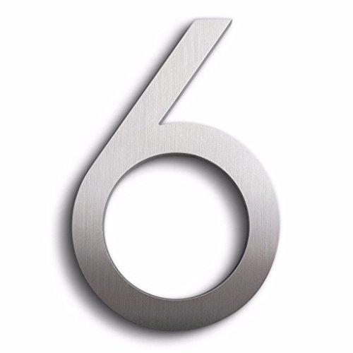 Modern House Number Aluminum Modern Font 8