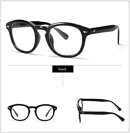 anizun (TM) Retro Designer Brille-Rahmen mit Klar Johnny Depp Gläser optischen Grad Rahmen Eyewear Oculos de grau 2038W, braun