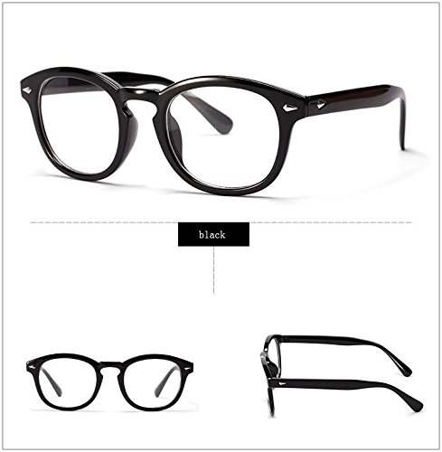 Xyindia(TM)Retro Designer Eyeglasses Frames With Clear Lens johnny depp glasses Optical Degree Frames Eyeglass Eyewear oculos de grau - Depp Johnny Eyewear
