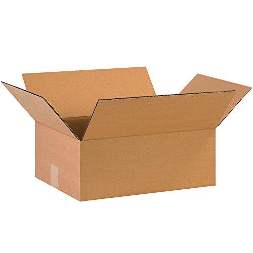 BOX USA B1612675PK Flat Corrugated Boxes, 16
