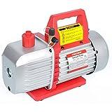 Kozyvacu 5CFM 2-Stage Rotary Vane Vacuum Pump (5.0CFM, 40Micron, 1/2HP) for HVAC/Auto AC Refrigerant Recharging, Degassing wine or epoxy, Milking cow or lamb, Medical, Food processing etc.
