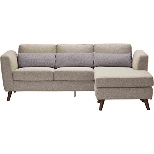 Moe's Home Collection Nano Sectional Sofa with Reversible Chaise