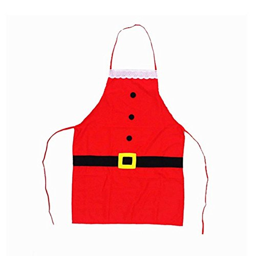 S&M TREADE-2017 Christmas Decoration Santa Apron Home Kitchen Cooking Baking Chef Red Apron